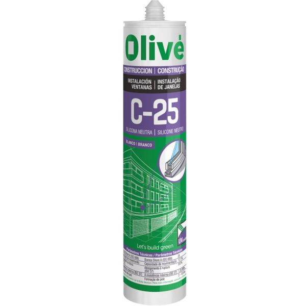Silicona Neutra Olive C-25 Roble 300ml