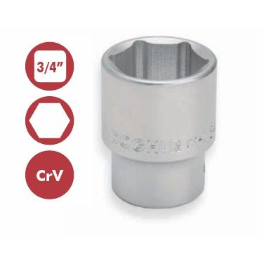 "Vaso Hexagonal 3/4"" 34mm"